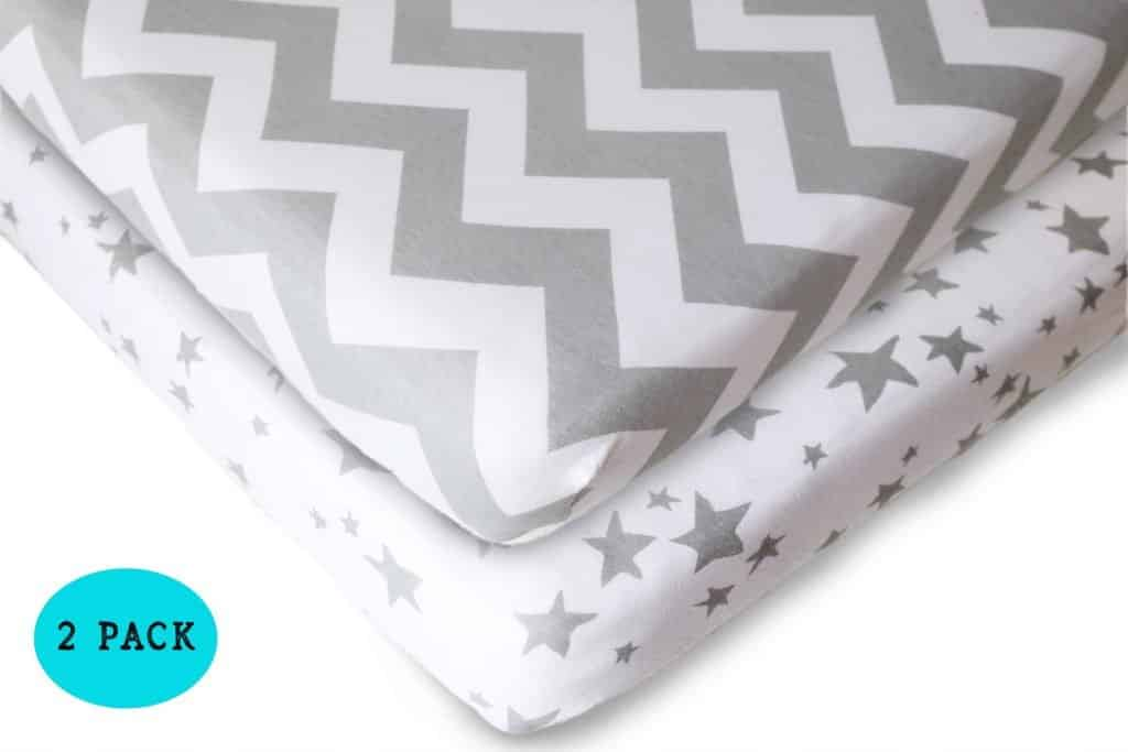 grey mini crib sheets for pack n play playard
