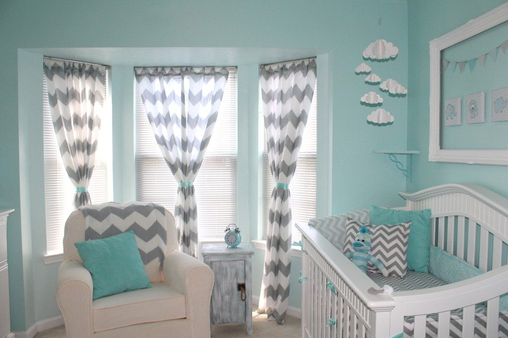 blue baby girl nursery