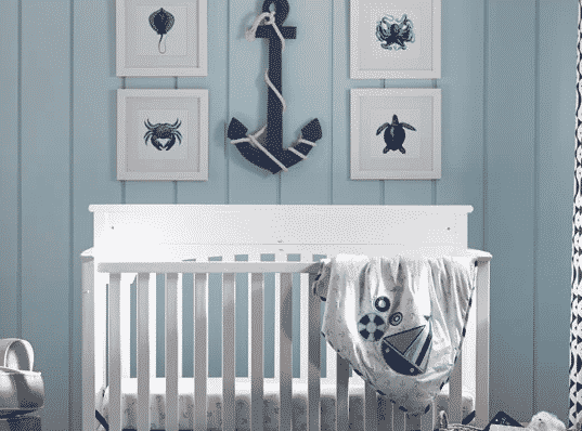 3) Nautical Nursery for baby girl