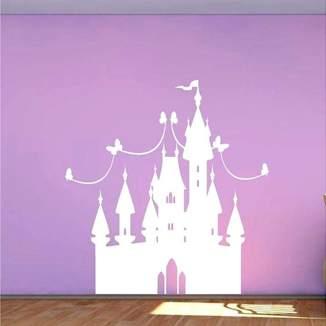 purple princess theme decal for baby girl room