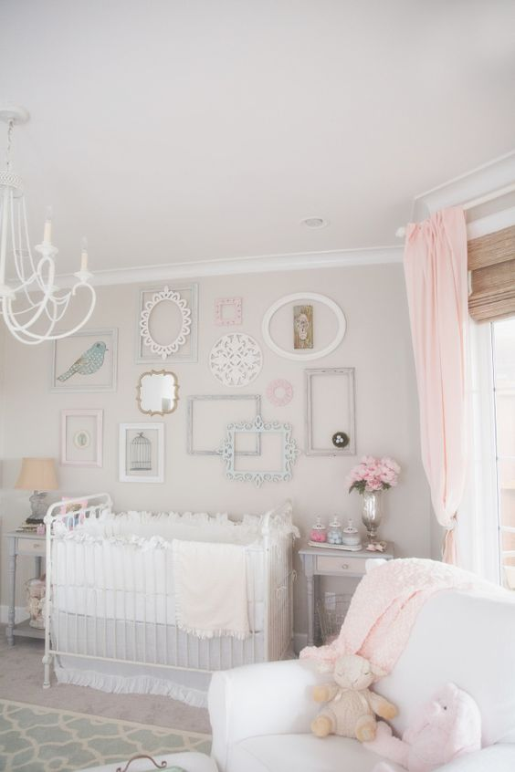 shabby chic nursery for baby girl