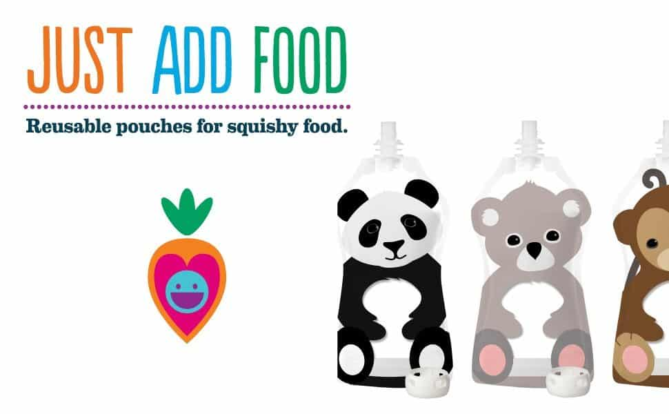 cute reusable baby food pouch