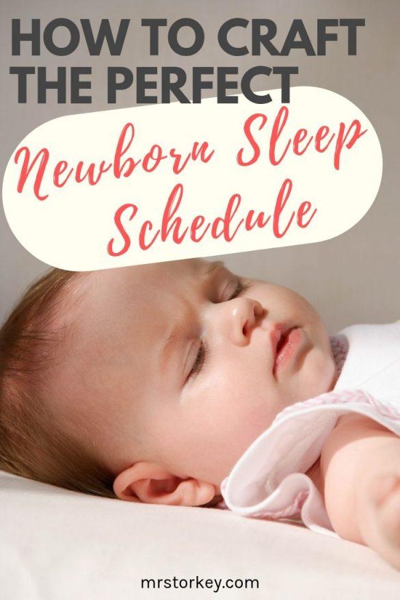 the perfect newborn sleep schedule, sleep routine