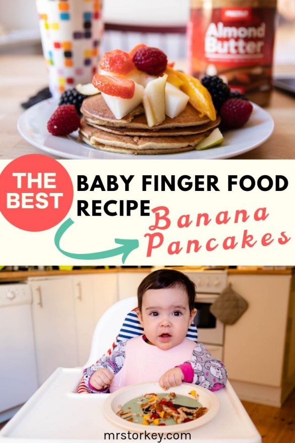 best baby finger food recipe - banana pancake