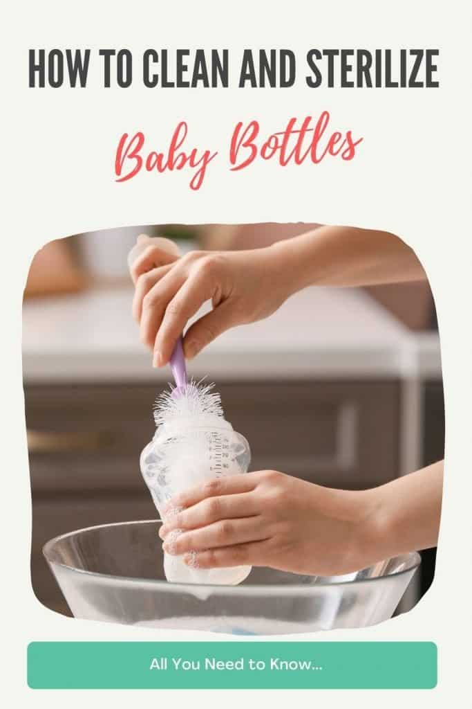 how to sanitize baby bottles and pacifiers